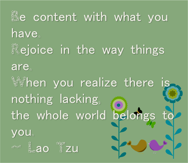 be content